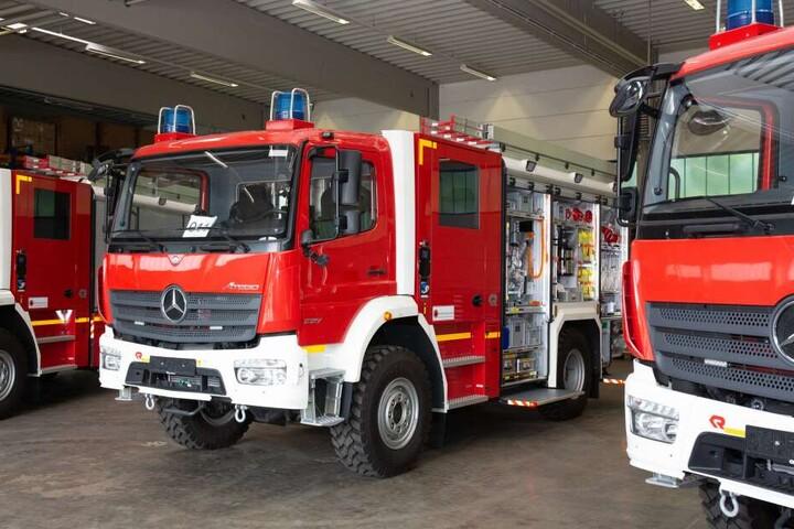 Das Bundesamt für Bevölkerungsschutz und Katastrophenhilfe (BBK) präsentiert in Halle 3 das neue Löschgruppenfahrzeug Katastrophenschutz (LF-KatS) vom Typ MB Atego 1327 AF.