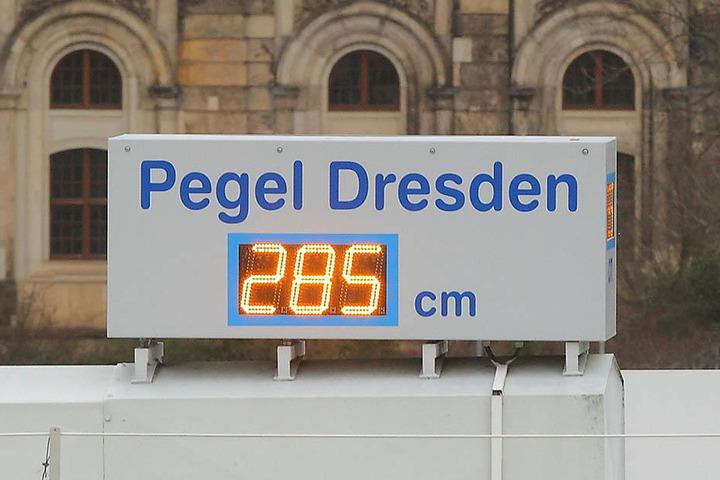 Der bislang höchste Pegelstand der Elbe lag gestern bei 2,85 Metern.
