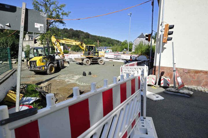 Wegen der Bauarbeiten ist der Hübnerweg nicht erreichbar.