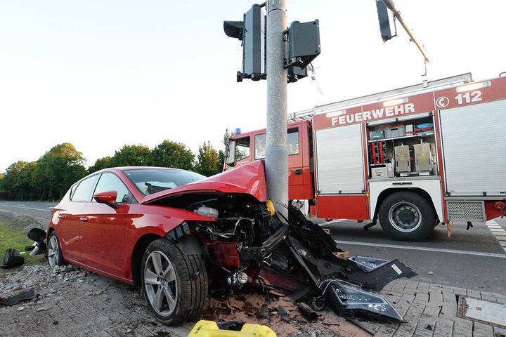Die 25-Jährige wurde zum Glück nur leicht verletzt.