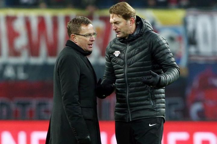 RB-Sportdirektor Ralf Rangnick und Trainer Ralph Hasenhüttl.