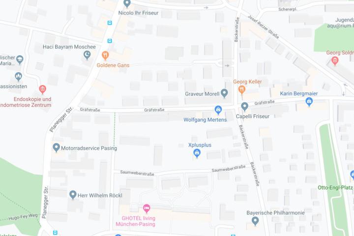 Der Unfall ereignete sich im Bereich Planegger Straße - Gräfstraße.