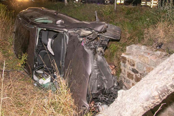 An dem Wagen entstand Totalschaden.