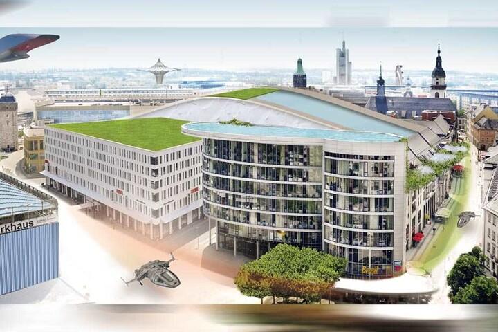 Ein Pool auf den Rathauspassagen? Warum nicht. Visionen und Träume für die Chemnitzer Innenstadt sind erlaubt.