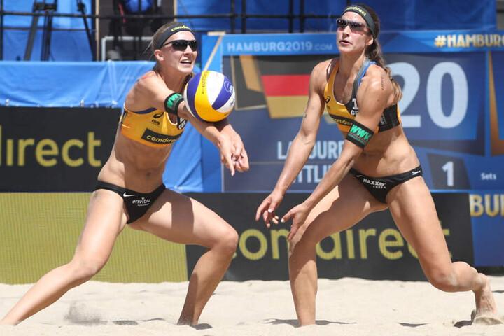 Sandra Ittlinger (links) und Chantal Laboreur siegten in ihrem Auftaktmatch.