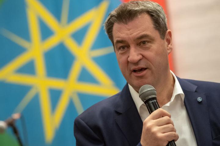 Markus Söder trifft am Mittwoch in Addis Abeba mit Staatspräsidentin Sahle-Work Zewde .