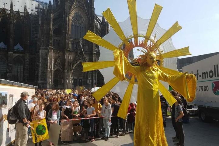 Die Demonstranten setzen sich für eine andere Klimapolitik ein.