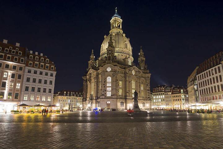 Ein Dieb flüchtete am Montagmorgen vor der Polizei auf die 67 Meter hoch gelegene Aussichtsplattform der Frauenkirche.