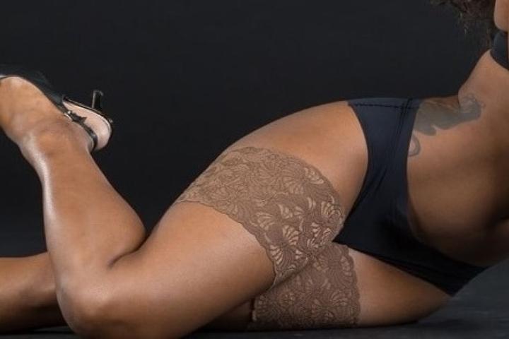 """Sexy Bandelettes helfen gegen """"Chub rub""""."""