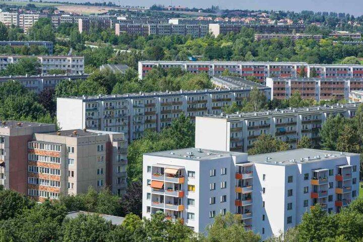 Platten-Panorama: Blick über Gorbitz.