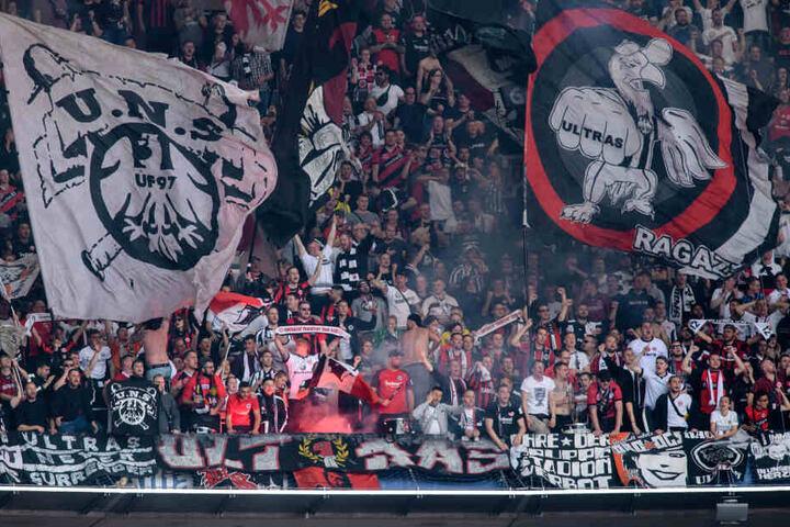 Die Unterstützung der Eintracht-Fans war auch in München wieder phänomenal.