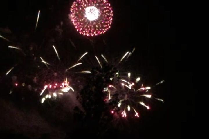 Gegen 22 Uhr startete das Feuerwerk.