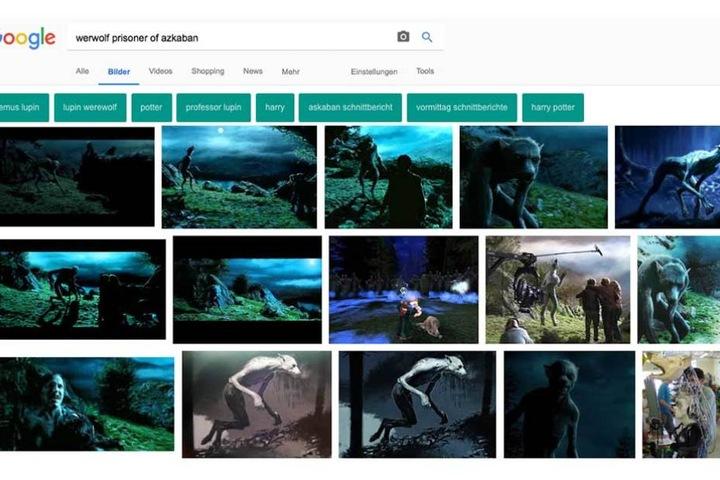 Bei der Google-Suche finden sich jede Menge der Harry-Potter-Werwölfe, die als Vorlage für das mysteriöse Foto herhalten konnten.