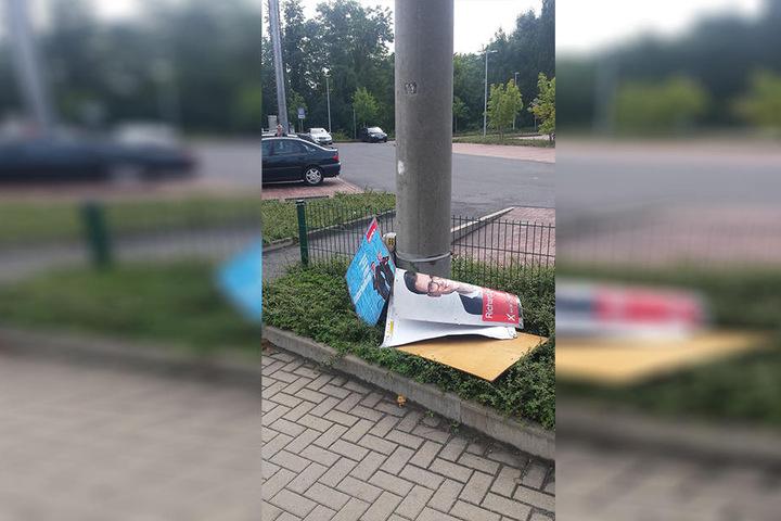 Entlang ganzer Straßenzüge wurden Plakate entfernt.