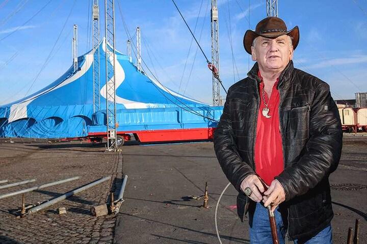 Mario Müller Milano (68) freut sich auf die Circus-Premiere im neuen, supermodernen Hauptzelt.
