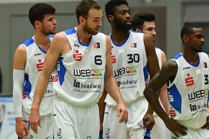 Wieder mal lange Gesichter bei den Dresdner Basketballern.