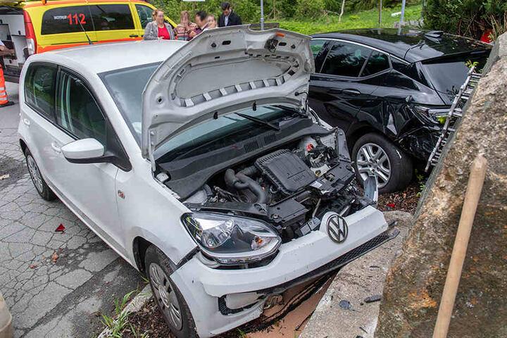 An dem Kleinwagen entstand ein erheblicher Schaden.