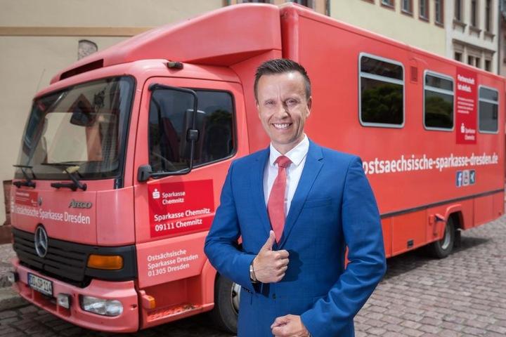 Michael Kreuzkamp, Vorstandvorsitzender der Sparkasse Chemnitz, ist froh über die Hilfe  der Kollegen aus Dresden.