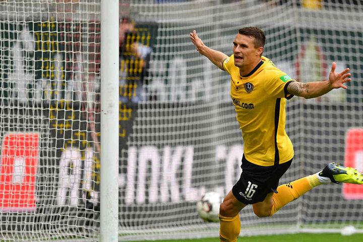Philip Heise traf bei 4:1-Erfolg der Dresdner gegen Darmstadt zum vorentscheidenden 3:1.