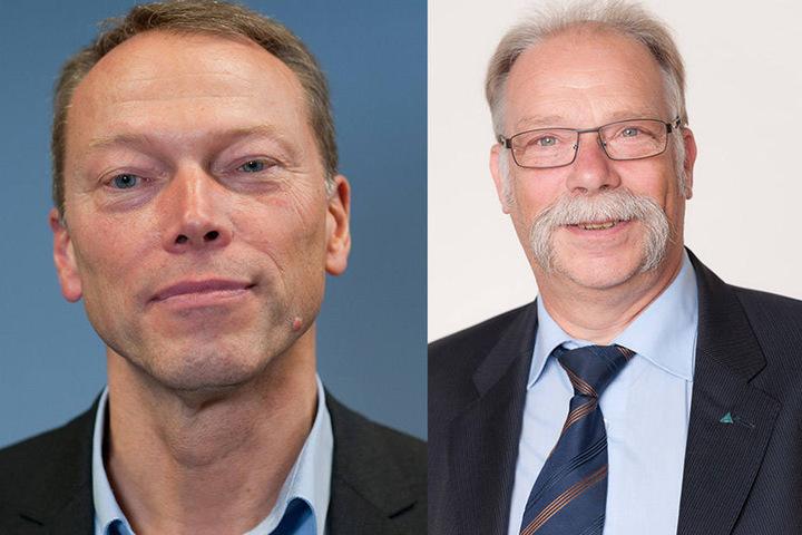 Siegfried Brockmann (l.) - Leiter Unfallforschung und Hans-Ulrich Sander - Kraftfahrtexperte von Tüv Rheinland rätseln über die Ursache.