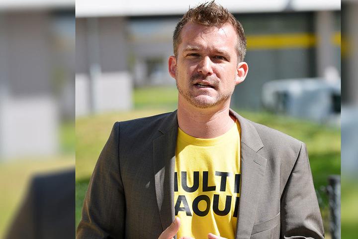 """Wirbt als """"Multi-Raoul"""" für mehr Multi-Mobilität, also für Alternativen zum  Auto: Baubürgermeister Raoul Schmidt-Lamontain (Grüne, 40)."""