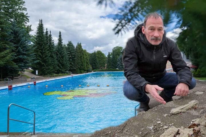 Linken-Stadtrat Heiko Schinkitz (60) wollte ein Riesenbecken bauen.