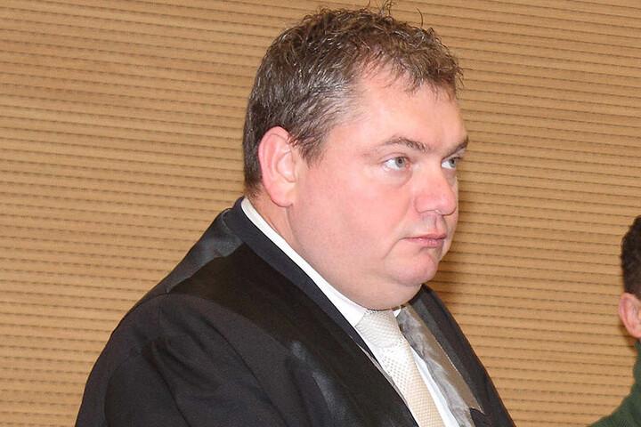 Anwalt Frank Hannig war im Prozess entschuldigt: Er ist krank.