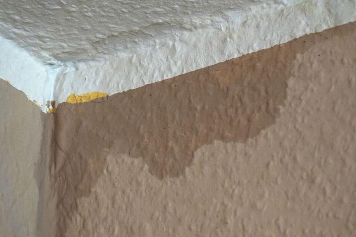 Die Spuren der Feuchtigkeit sind in vielen Wohnungen deutlich sichtbar.