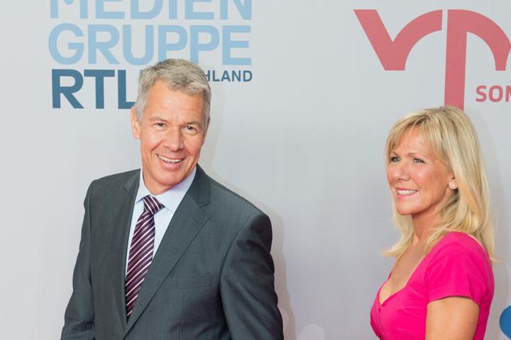 RTL-Anchormann Peter Kloeppel und RTL-Moderatorin Ulrike von der Groeben.