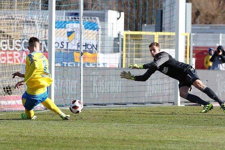 Der Treffer zum 1:0 durch Maximilian Wolfram.