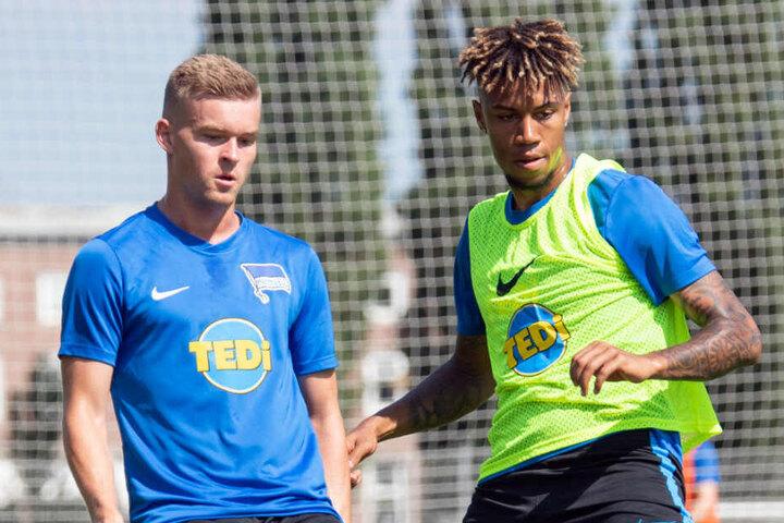 Sidney Friede und Maximilian Mittelstädt beim Training.
