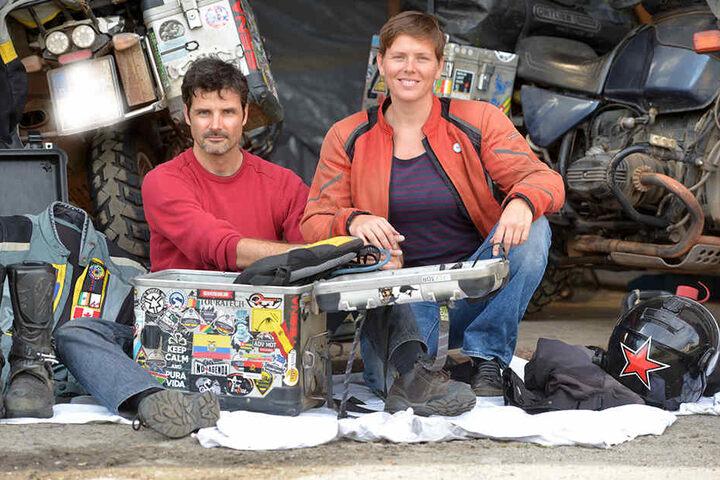 """Daniel Rintz (39) und Freundin Josephine """"Joey"""" Flohr (36) sind nach drei Jahren wieder in Dresden."""