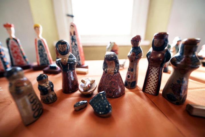 Krippen-Figuren gehören ebenfalls zur Sammlung.