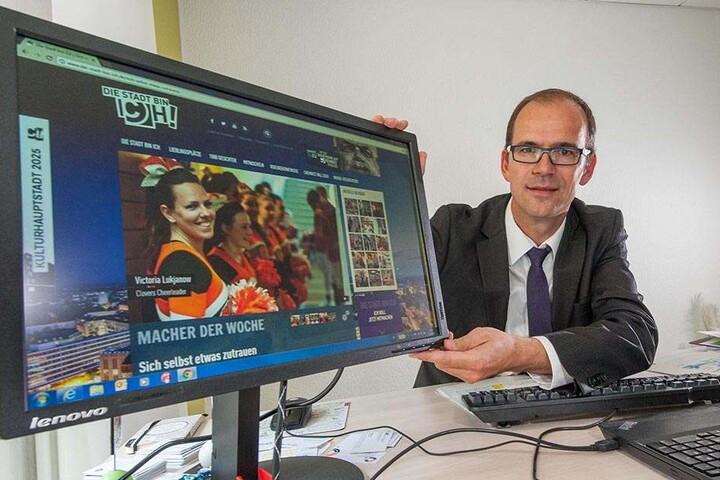 CWE-Chef Sören Uhle (41) geht als gutes Beispiel voran: Der gebürtige Chemnitzer zog einst nach Norddeutschland - 2007 kehrte er zurück.