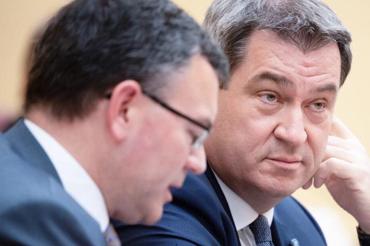 CSU-Chef Markus Söder (r.) ist der amtierende Ministerpräsident des Freistaats Bayern.