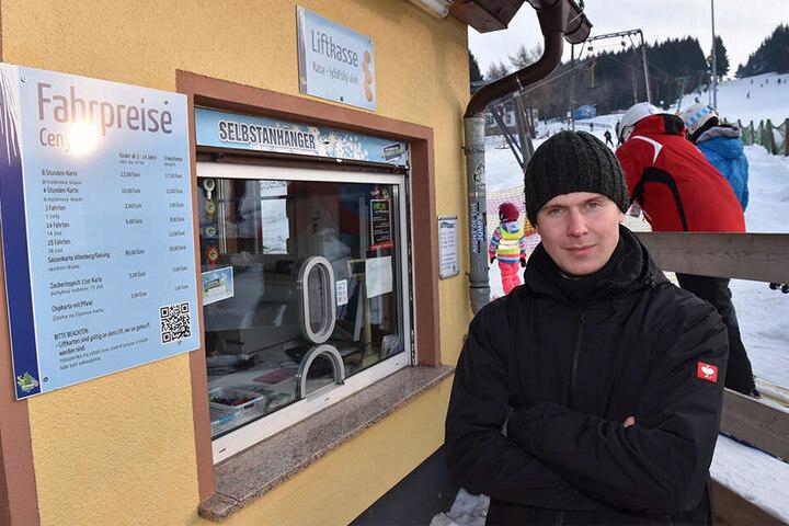 Manuel Püschel (30), Betriebsleiter vom Skilift Altenberg.