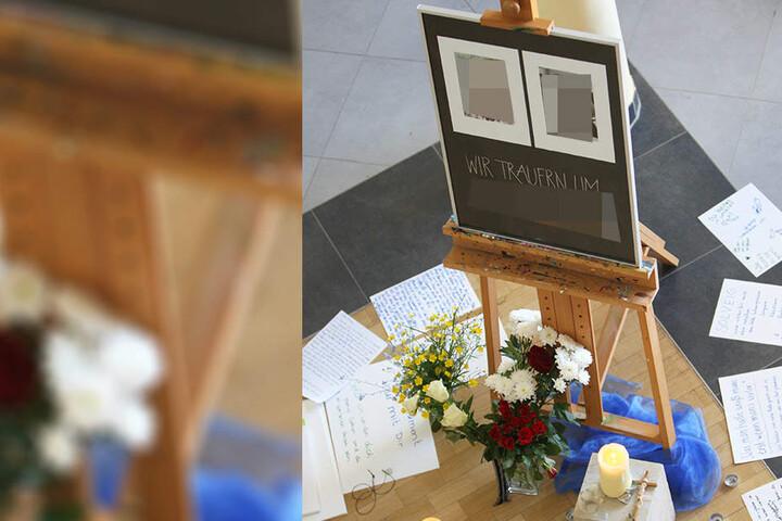 Blumen, Kerzen, rührende Briefe: Schüler und Lehrer trauern an der Schule um die angehende Abiturientin Solveig A. (†17).