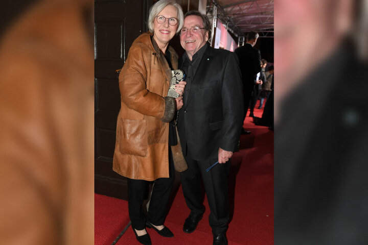 Der Schauspieler Elmar Wepper und seine Frau Anita.