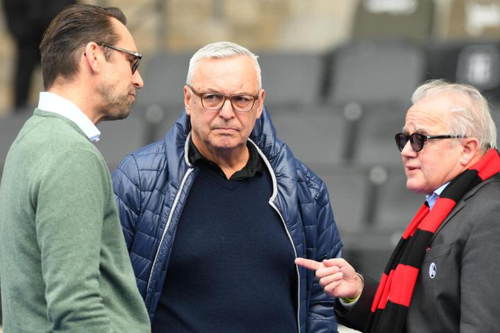 Keller (rechts) präsentiert sich am kommenden Mittwoch in Berlin bei der Generalversammlung der DFL. (Archivbild)