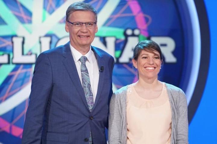 Kandidatin Sandra Schläfle ließ sich von dem ganzen Trubel nicht verschrecken. Am Ende ging sie mit 32.000 Euro nach Hause.