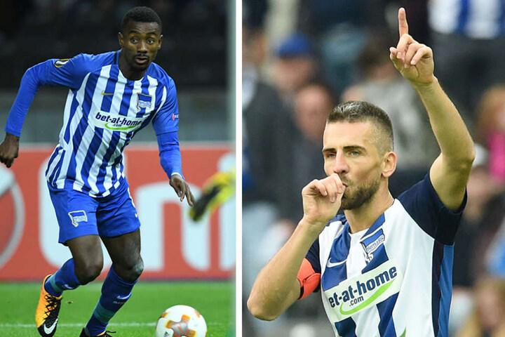 Sie sind auch ihrer Nationalmannschaft zurück getreten: Salomon Kalou (l) und Vedad Ibisevic.