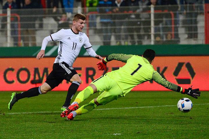 """Bisher lief Timo Werner für Deutschlands U21 auf. Gegen England könnte er sein Debüt für """"Die Mannschaft"""" geben."""