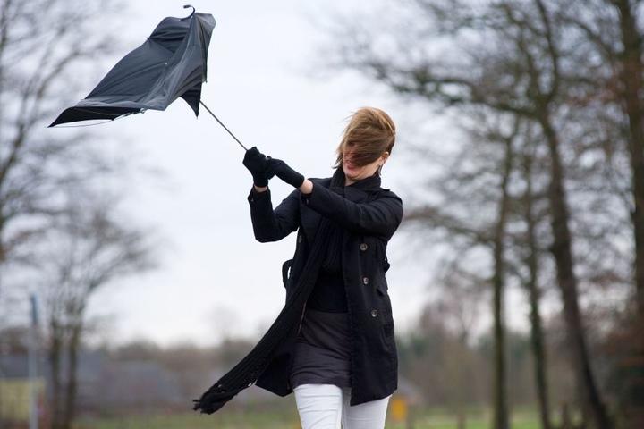 Neben dem starken Wind, muss man in Deutschland auch mit Regenschauern rechen.
