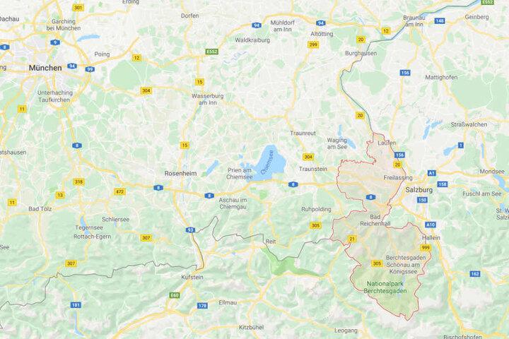 Im Berchtesgadener Land geht teilweise nichts mehr: Selbst die Rettungskräfte kommen nicht voran.