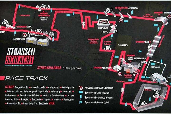 ... ein Cross- und Querfeldeinradrennen durch Limbach-Oberfrohna und die Stadthalle hindurch.