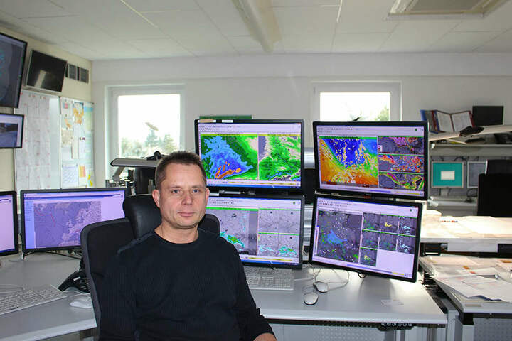 Wetterexperte Thomas Hain vom Deutschen Wetterdienst in Leipzig.