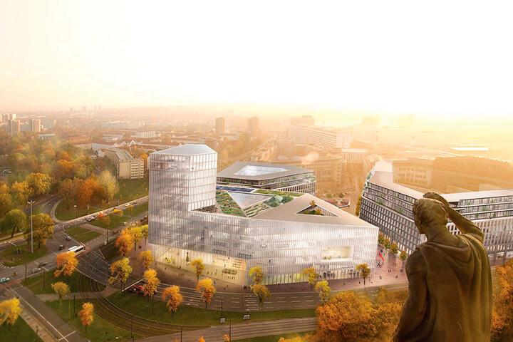 So in etwa soll das neue Technische Rathaus am Ferdinandplatz aussehen.