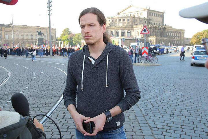 Jürgen Kasek (36, Die Grünen) ist ein begehrter Gesprächspartner.