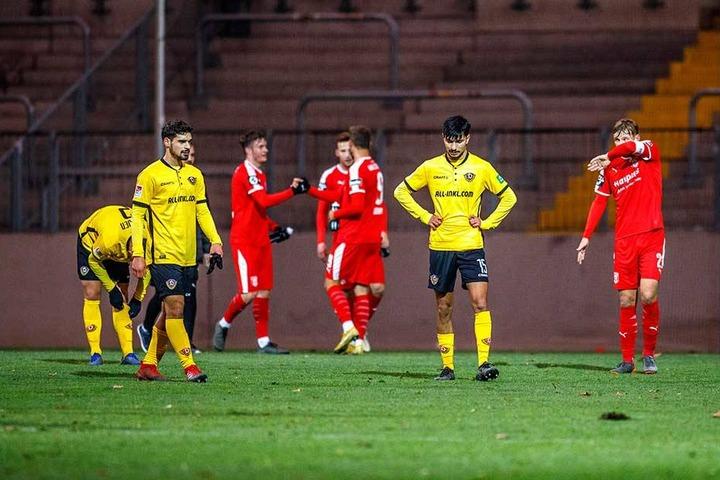 Auch die Talent Luca Shubitidze (li.) und Osman Atilgan kamen für Dynamo zum Einsatz.
