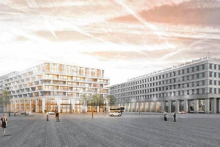 So soll der neue Wohnkomplex der CG Gruppe am Postplatz Ende 2020 aussehen.